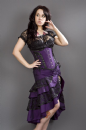 Pin-Up Purple Taffeta Frill Skirt (2)